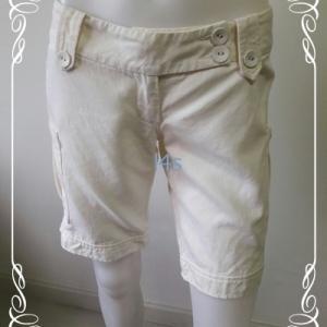 BNB1442--กางเกงขาสั้น สีครีม CC DOUBLEO