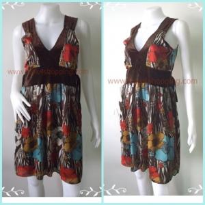 Dress0072--เดรสแฟชั่น นำเข้า CLEF DE SOL อก 33 นิ้ว