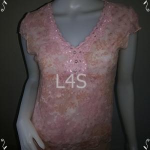 """jp3895-เสื้อแฟชั่น สวยๆ สีชมพู """"อก34 นิ้ว"""""""