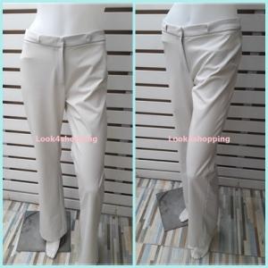 กางเกงผ้า มือสอง สีขาวครีม MNG เอว 28 นิ้ว