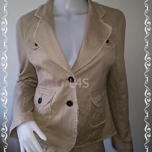 Jeans0046---เสื้อแจ็คเก็ต สีน้ำตาล นำเข้า อก 37-38 นิ้ว