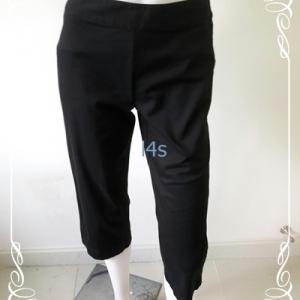 กางเกงผ้า มือสอง สีดำLIZ CLAIBORNE เอว25 นิ้ว