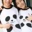 เสื้อคู่รัก หวานแวว ลายน่ารัก เสื้อขาว แขนสีดำ thumbnail 1