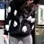 เสื้อกันหนาว สีดำ สกรีนรูปหัวกระโหลก มีฮู้ด thumbnail 4