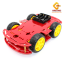 โครงรถ หุ่นยนต์ 4WD สีแดง smart car chassis thumbnail 6