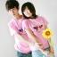 เสื้อยืดคู่รัก สีชมพู สกรีนลายวัวน่ารัก (ราคาขายเป็นคู่ค่ะ) thumbnail 1