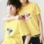 เสื้อยืดคู่รัก สีเหลือง สกรีนลายวัวน่ารัก (ราคาขายเป็นคู่ค่ะ) thumbnail 2