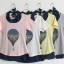 เสื้อยืด สองชิ้น สีชมพู ลายบอลลูน พร้อมเสื้อด้านในมีสายผูกคอ thumbnail 3