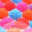 พิมพ์ซิลิโคน วุ้นเค้ก แฟนซีดอกกุหลาบ 7.5 cm 12 ชิ้น thumbnail 2