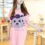 เสื้อยืดสีชมพู คอกลม แขนสั้น ตัวยาวคลุมสะโพก สกีนหน้าแมว thumbnail 5