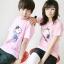 เสื้อยืดคู่รัก สีชมพู สกรีนลาย Snoopy น่ารัก (ราคาขายเป็นคู่ค่ะ) thumbnail 2