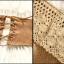 เดรสออกงาน Size M เกาะอก สีขาว ผ้าชีฟองอัดพลีทแต่งระบายลูกไม้ ชายแต่งผ้าถักโครเชร์สีน้ำตาล thumbnail 6