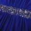 [พร้อมส่ง] ชุดเดรสยาวสีน้ำเงินผ้าcotton blend , cutting/pattern เนี๊ยบ thumbnail 6