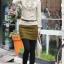 เสื้อแฟชั่น คอเต่า ช่วงอกระระบาย แขนยาวแต่งกระดุม สีครีม thumbnail 2