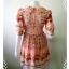"""Dress0709--เดรสแฟชั่นชีฟอง สวยๆ สีชมพูอมโอรส .""""อก 30 นิ้ว"""" thumbnail 3"""