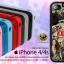 เคสแปะหลัง iPhone 4/4S เนื้อยางซิลิโคนมีขอบกันลื่น เกรด A สีดำ thumbnail 1