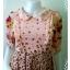 """Dress0709--เดรสแฟชั่นชีฟอง สวยๆ สีชมพูอมโอรส .""""อก 30 นิ้ว"""" thumbnail 4"""