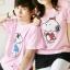 เสื้อยืดคู่รัก สีชมพู สกรีนลาย Snoopy น่ารัก (ราคาขายเป็นคู่ค่ะ) thumbnail 1