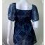 jp2227-เสื้อแฟชั่น ชีฟอง สีน้ำเงิน อก 30-33 นิ้ว thumbnail 4