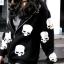 เสื้อกันหนาว สีดำ สกรีนรูปหัวกระโหลก มีฮู้ด thumbnail 3