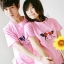 เสื้อยืดคู่รัก สีชมพู สกรีนลายวัวน่ารัก (ราคาขายเป็นคู่ค่ะ) thumbnail 2