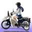 S.H.Figuarts - Minowa Hijiri (Uniform) & Super Cub 50 (Bakuon!! Ver.) (Limited Pre-order) thumbnail 3