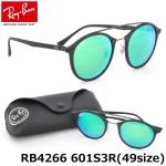 แว่นกันแดด RayBan Tech RB4266 601S3R size 49mm กรอบพลาสติคสีดำด้าน เลนส์ปรอทเขียว