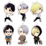"Chara-Forme - ""Yuri on Ice"" Acrylic Strap Collection 6Pack BOX(Pre-order)"