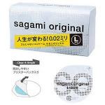 ถุงยาง : Sagami Original 0.02 L-size Condom Pack 1 ชิ้น