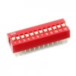 DIP switch ดิฟสวิทช์ 12P 2.54 mm