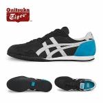 รองเท้าผ้าใบผู้ชาย Onitsuka Tiger Men's Serrano Shoes D109L 9043 สีดำ-ฟ้าคาดเทา