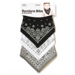 BANDANA BIBS (BLACK/GREY/WHITE)