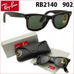 แว่นกันแดด RayBan Original Wayfarer RB2140 902 size 54mm กรอบสีกระน้ำตาล เลนส์ดำเขียว G-15