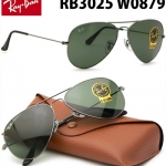 แว่นกันแดด RayBan Aviator RB3025 W0879 กรอบเงิน เลนส์ดำเขียว G-15 ใส่สบายตา size 58mm