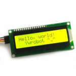1602 LCD (Yellow Screen) 16x2 LCD with backlight of the LCD screen พร้อม I2C Interface ขนาด 16 ตัวอักษร 2 แถว