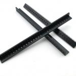 แท่งพลาสติกฉาก เจาะรู สีดำ ขนาด 10*10*150mm
