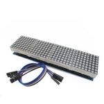 LED Matrix Driver MAX7219 IC Driver Module + LED Dot Matrix 8x8 ขนาด 32mm x 32mm 4 ชุด พร้อมสายไฟ