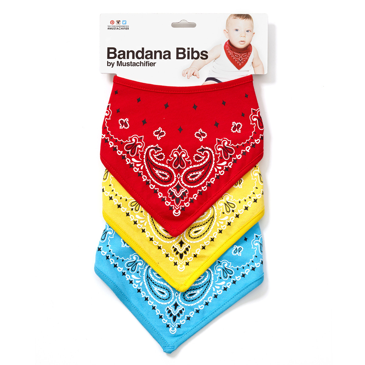BANDANA BIBS (RED/YELLOW/BLUE)