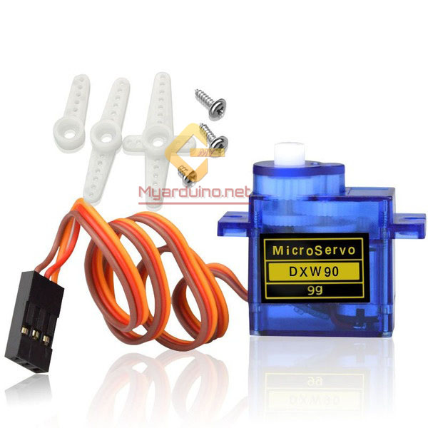 SG90 Micro Servo Motor แบบ หมุน360องศาต่อเนื่อง