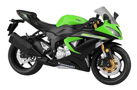 1/12 Complete Motorcycle Model Kawasaki Ninja ZX-6R 2014 (Lime Green)(Released)