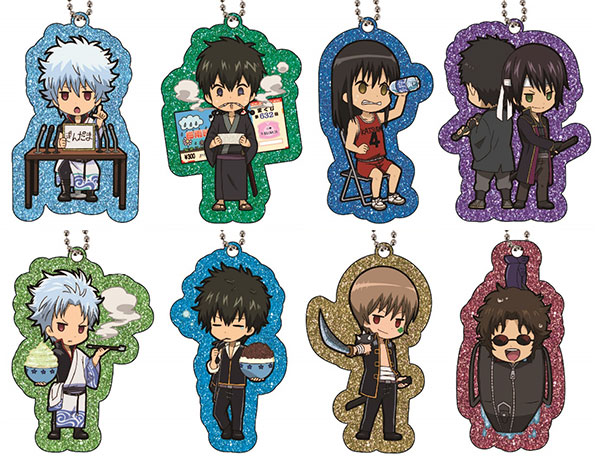 Gintama - Glittery Acrylic Charm Collection 8Pack BOX(Pre-order)