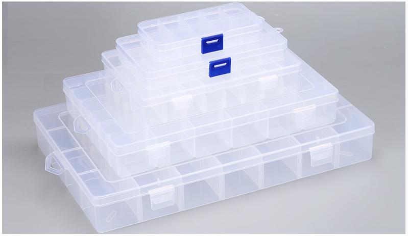 Electronics box กล่องอิเล็กทรอนิกส์ 15ช่อง ขนาด 95mmx170mmx23mm (กxยxส)