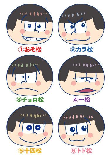 Osomatsu-san - Omanjuu Niginigi Mascot 6Pack BOX(Pre-order)