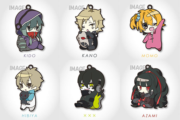 [Bonus] Eformed Mekakucity Actors - PajaChara Rubber Strap Collection Vol.2 6Pack BOX(Pre-order)