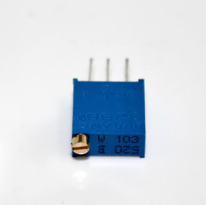 ตัวต้านทานปรับค่าได้ 10K แบบละเอียดหมุน 25 รอบ Trimpot 10 K 25 Turns 3296 Series Potentiometer Valiable Resistor