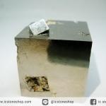 A+ เพชรหน้าทั่งซ้อน หรือไพไรต์ pyrite ทรงลูกบาศก์ (111g)