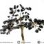 ต้นไม้มงคล หินออบซิเดียน ฐานควอตซ์ ใช้เสริมฮวงจุ้ย โต๊ะทำงาน (350g) thumbnail 3