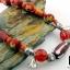 สร้อยคอลูกปัดโบราณ Old Venetian Striped โทนแดง ประดับด้วยเงินแท้ thumbnail 4
