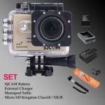 Sj5000 WiFi (Gold) - Micro SD Kingston 32GB+Battery+Charger+Monopod