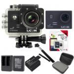 Sj5000 WiFi (Black) +Micro SD Kingston 32GB+Battery+Dual Charger+Monopod+Bag (Black)